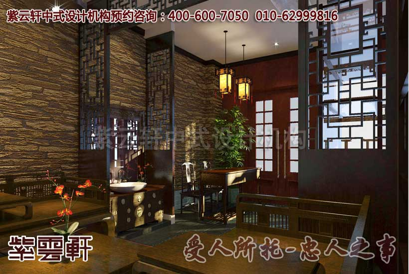 自然幽静的中式茶楼设计效果图—休闲区图片