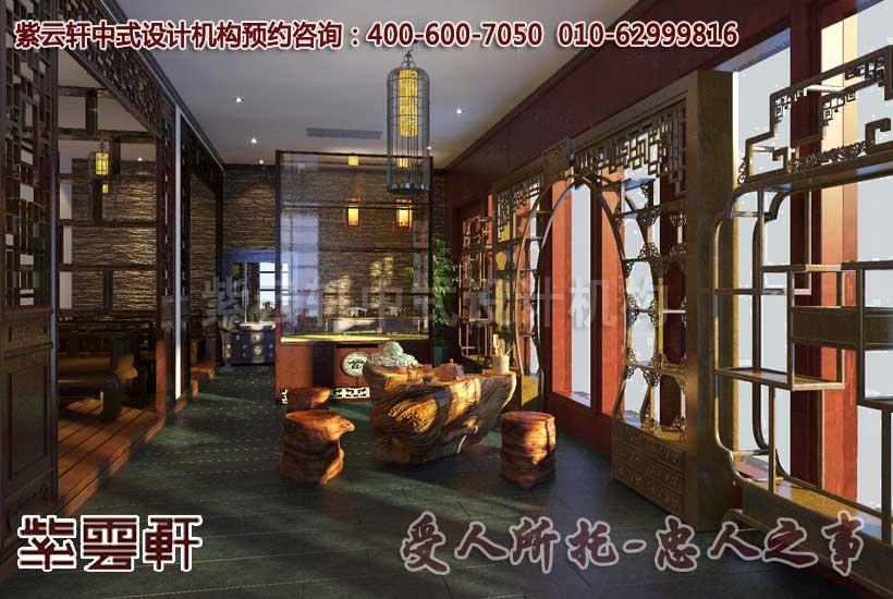 茶楼中式装修效果图―品茗区