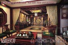 龙泉宝剑中式店面设计之茶室效果图