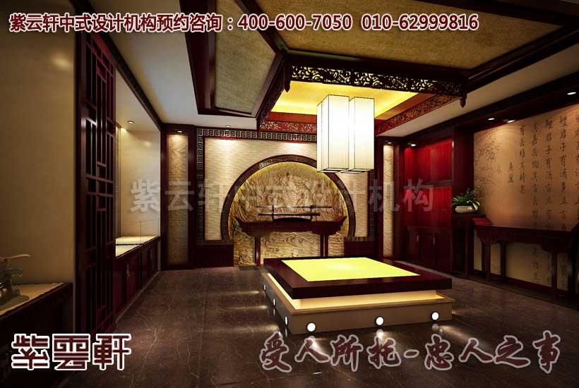 中式会馆展厅设计图片