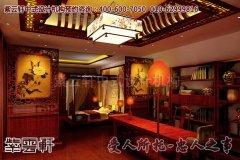北京某中式红木展厅设计效果图之卧室