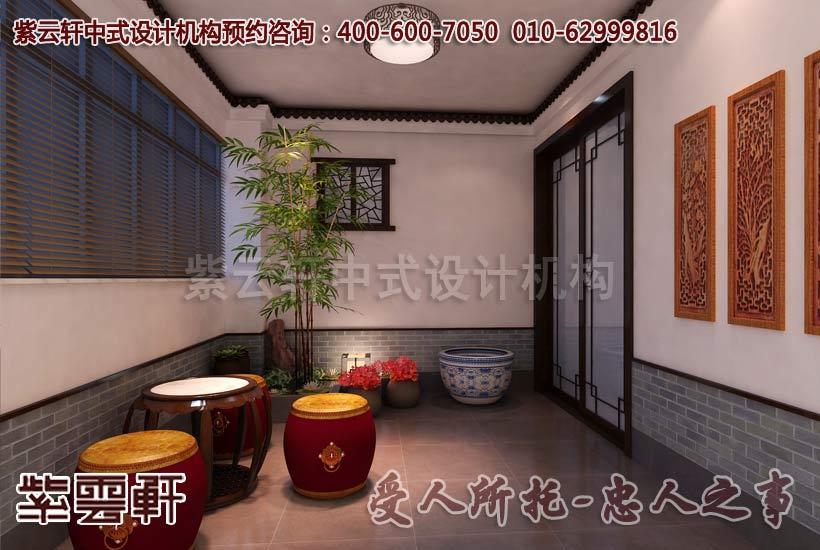 简约中式家装设计效果图―休闲室