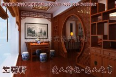 北京某简约中式家装设计效果图―阳台