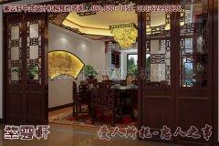 江西某客户别墅中式装修效果图-餐厅