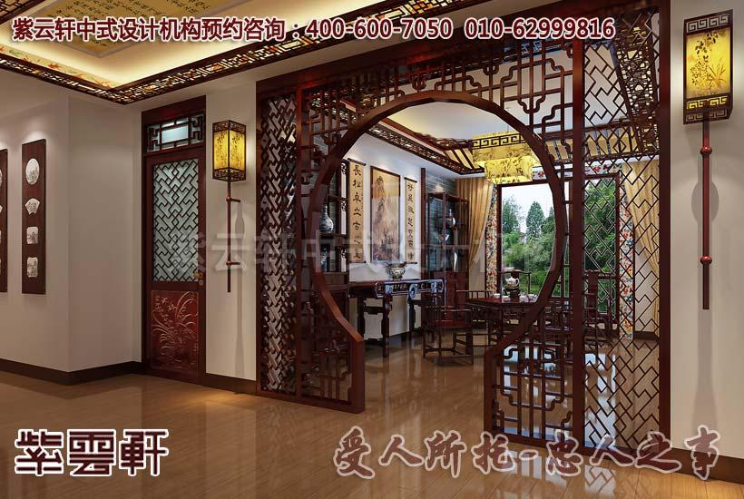 北京某中式紅木展廳設計效果圖之臥室         古典中式別墅裝修