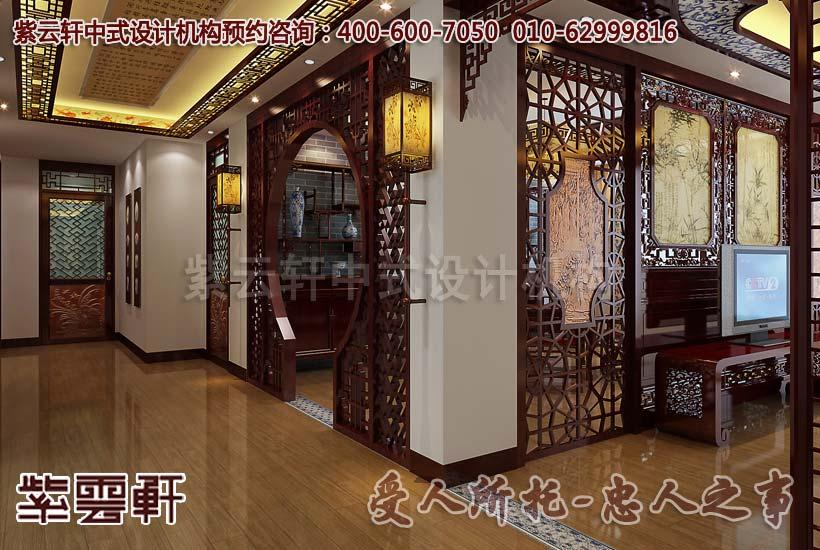 别墅古典中式装修效果图之餐厅一角_紫云轩中式设计