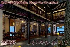 上海某古典中式餐饮会馆设计效果图―过道