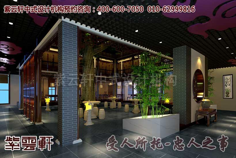 古典中式餐饮会馆设计装修效果图―包厢