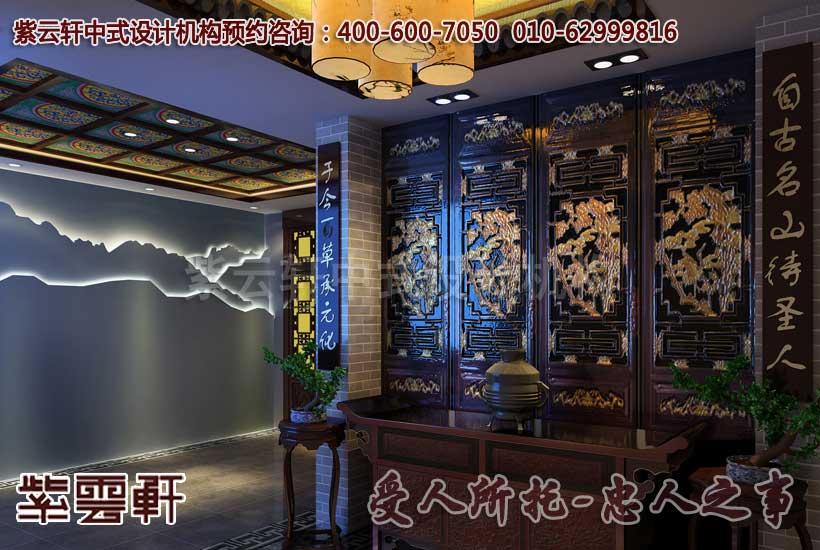 古典中式酒店设计效果图—过道