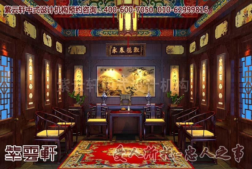 上海刘董新中式酒店设计效果图—包厢高贵,典雅         新
