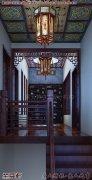 南京简约中式别墅装修效果图之楼梯