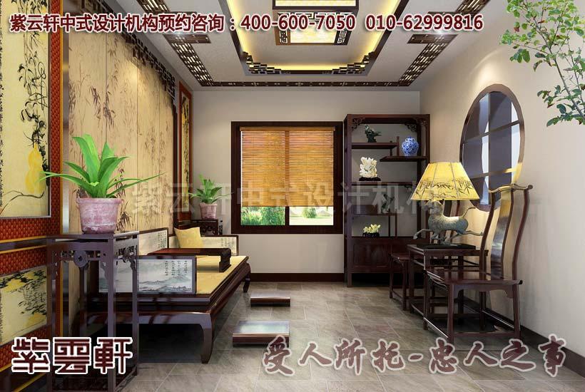 复式住宅中式装修效果图―茶室
