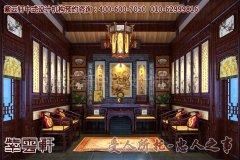 上海胡董四合院中式设计装修效果图―中堂