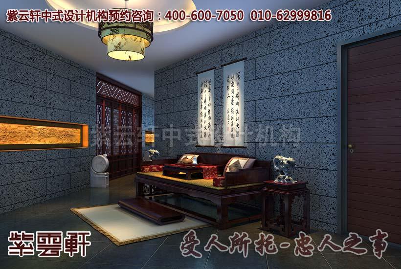 上海某会所古典中式装修效果图 过道高清图片