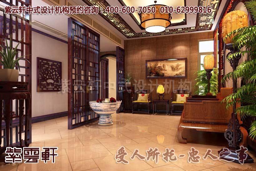 私人会所古典中式装修效果图—接待室2