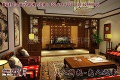 上海周总别墅简约中式装修效果图―电视背景墙