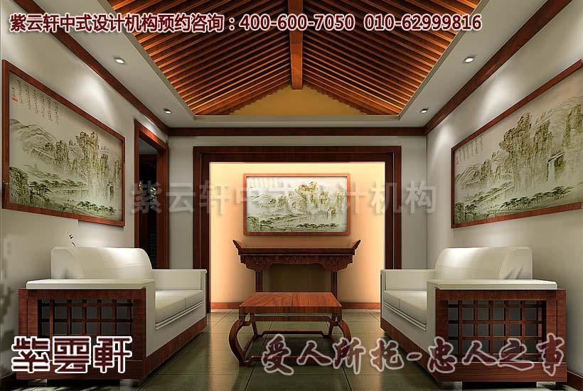 亚运村茶楼古典中式装修效果图—包间