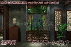 亚运村茶楼古典中式装修效果图―门厅