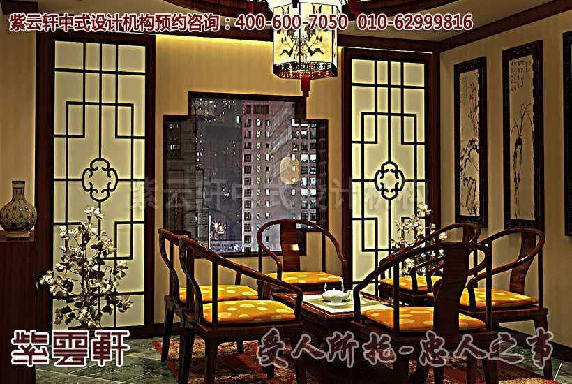 扬州茶楼古典中式装修效果图之包厢