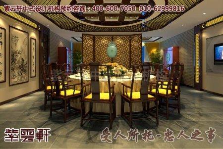 西宁某酒店中式设计图片之大餐厅