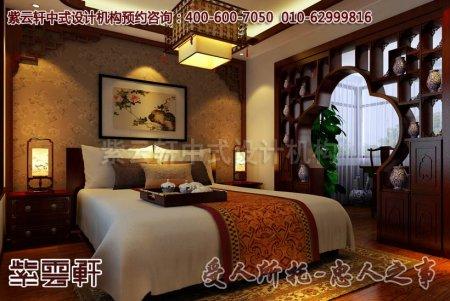 安徽吴总卧室中式装修图片之古典平层