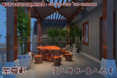 湖北谢先生景观阳台中式装修效果图