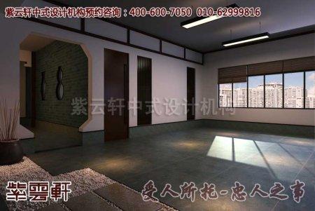 深圳李总古典中式办公室装修效果图