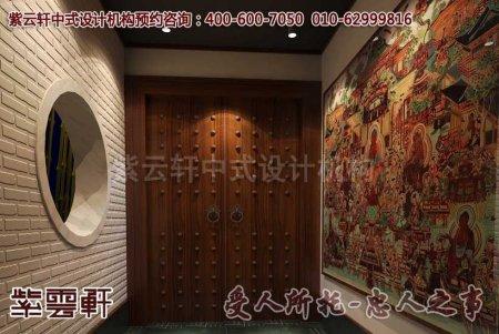 深圳李总古典办公室玄关中式装修效果图