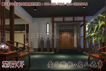 深圳李先生古典办公室过道中式装修图片