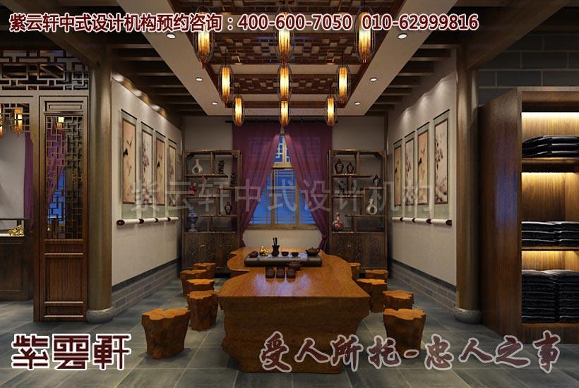 舟山普陀山中式展廳裝修效果圖         舟山普陀山中式展廳