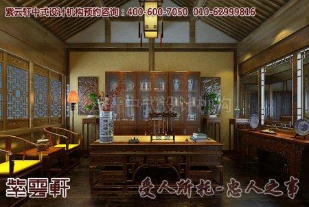 舟山普陀山中式展厅书房装修效果图
