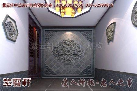 石家庄张先生别墅门厅中式装修效果图