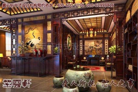 石家庄张先生中式别墅中堂设计效果图