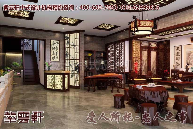 中式紅木家具展廳設計圖片         湖北某客戶展廳中式裝修效果