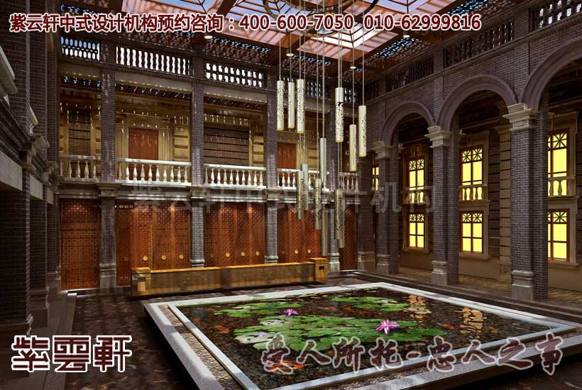 扬州李总古典中式会所装修效果图