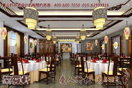 山西某客户中式餐厅散客区装修图片