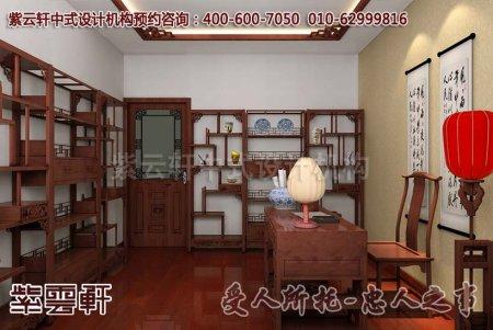 中式别墅书房装修图片