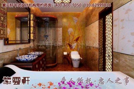 别墅中式装修图片―卫生间