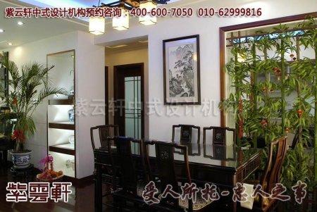 天津新古典中式餐厅装修图片