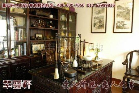 天津某客户新中式风格书房装修图片