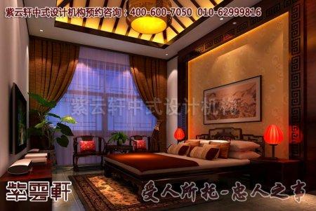 北京怀柔顶楼中式设计图片之卧室