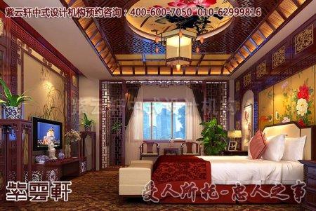 中式会所设计效果图之客房