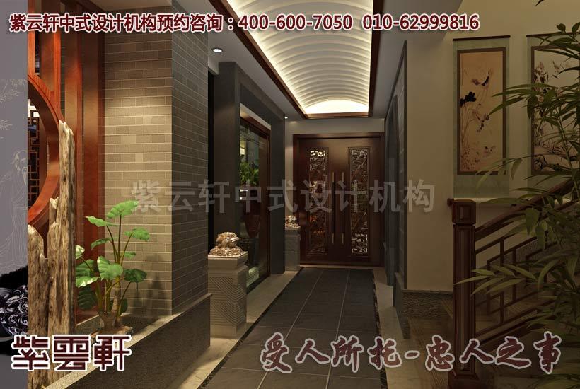 中式别墅装修效果图之过道