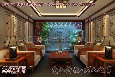 中式别墅会客厅设计效果图
