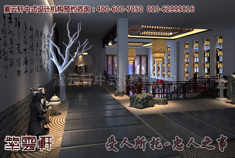 大城紅木家具藝術展廳中式裝修效果圖