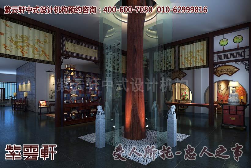 大城红木家具中式展厅设计效果图