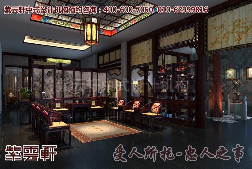 展厅中式装修效果图2 高清图片