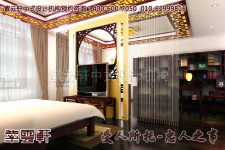 别墅中式装修效果图之卧室