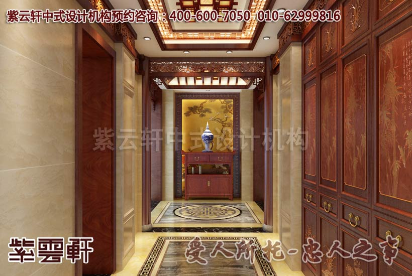 古典中式别墅装修效果图之玄关