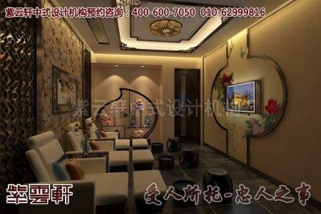 中式会所装修效果图之足浴室